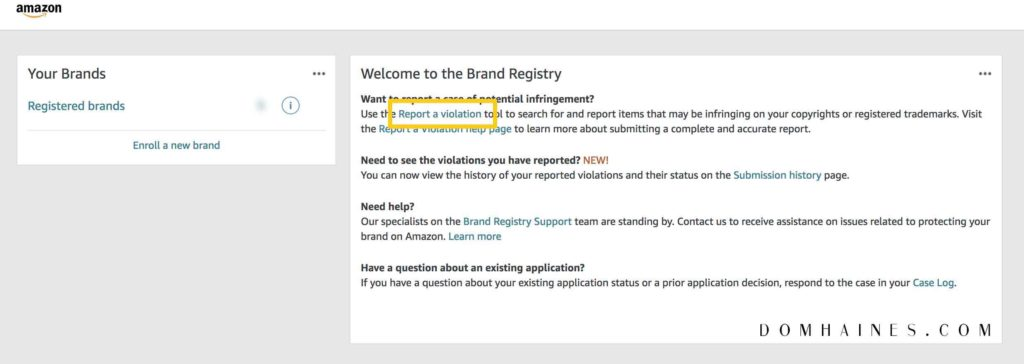 amazon brand registry search