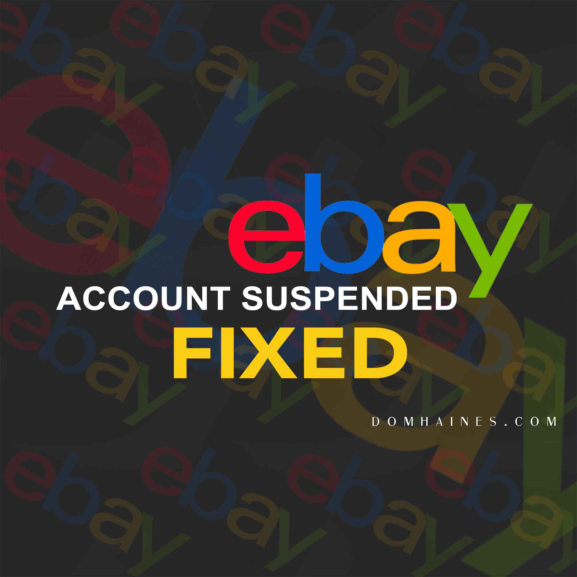 Ebay Suspended My Account Real Solution And Suggestions Dom Haines