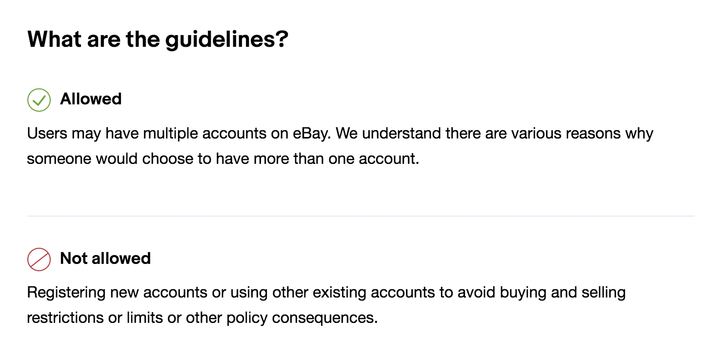 ebay suspended multiple accounts