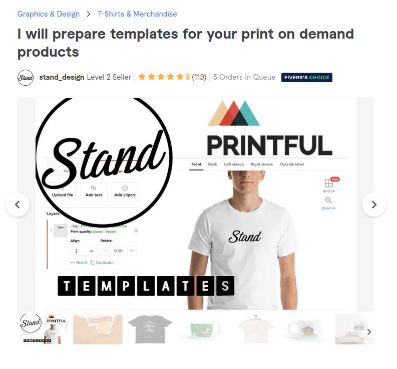 Fiverr design for Etsy Print on Demand