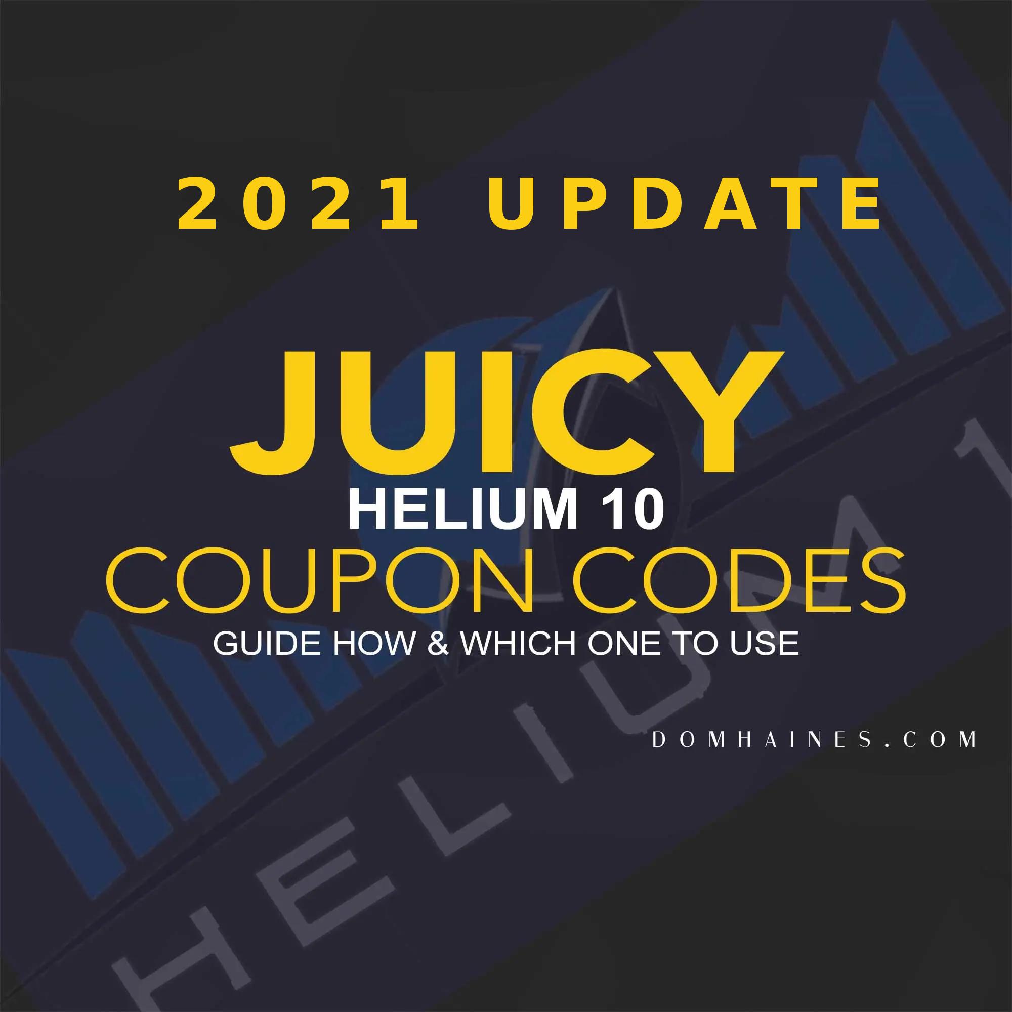 Helium 10 promo codes