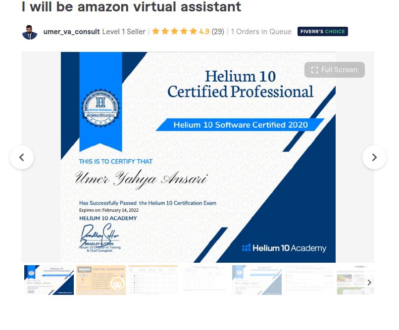 Fiverr Amazon virtual assistant