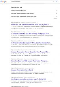 Amazon automation google search