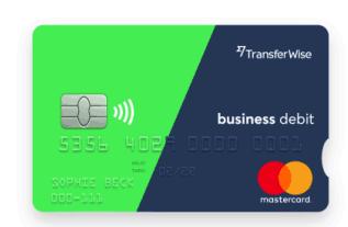 Transferwise Business Account Debit card